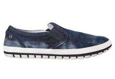 Niskie jeansowe trampki typu slip-on | www.menwithballs.pl | STORE
