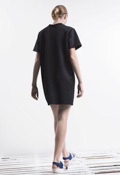 3D Neoprene rivets dress / One piece / Black / rivets / Minimalist / Mute by Joanne Lu 2015 Summer Collection / Saturday Project
