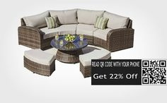 Save 20 % on Rattan Outdoor Sofa Set Weave Modular Sofa Set Outdoor Garden…