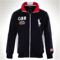 Polo Ralph Lauren GBR Darkblue Fleece Men Big Pony Jacket http://www.ralph-laurenoutlet.com/
