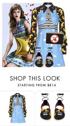 """""""Cell Free Zone"""" by hydrangea4 ❤ liked on Polyvore featuring Miu Miu and Balmain"""