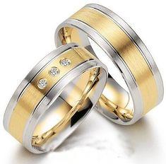 Verighete aur alb si aur galben MDV71 Aur, 50 Euro, Wedding Rings, Engagement Rings, Model, Jewelry, Crystal, Diamond, Enagement Rings