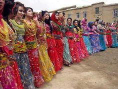 iran / traditional dress in kurdistan ( west of iran)