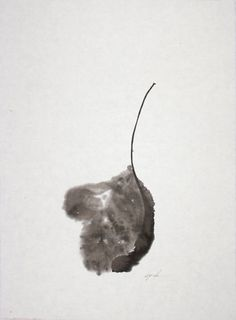 Louise Kikuchi - Waiting Leaf #1,    1992; sumi on paper
