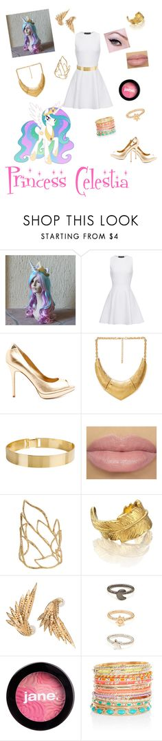 """""""Princess Celestia from my little pony"""" by zamantha-palazuelos ❤ liked on Polyvore featuring TIARA, Proenza Schouler, Sam Edelman, Forever 21, Lele Sadoughi, Alexis Bittar, LeiVanKash, Jessica Robinson, jane and Accessorize"""