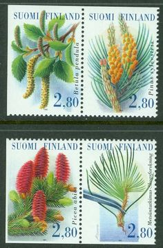 Finland - F Skogsforskning, 4 kpl ** Cactus Plants, Finland, Projects To Try, Mint, Flower Stamp, Organizations, Flowers, Stamps, Number
