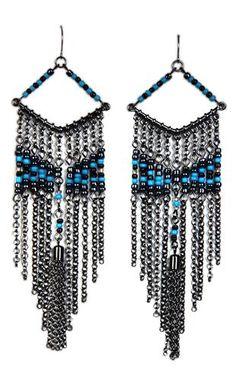 long beaded chain earrings $9.50