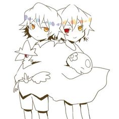 Pandora Hearts/Pokemon Crossover Gil and Vincent