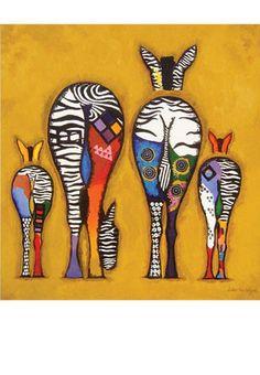 Ester Steintjes - Zebra - greeting card