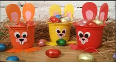 A faire avec des enfants pour pâques Kids Crafts, Cup Crafts, Crafts For Seniors, Bunny Crafts, Easter Crafts, Diy And Crafts, Easter Table Decorations, Easter Activities, Party In A Box