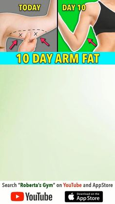 Full Body Gym Workout, Back Fat Workout, Gym Workout Videos, Gym Workout For Beginners, Fitness Workout For Women, Easy Workouts, Workouts For Arms, Slim Arms Workout, Beginner Yoga Workout