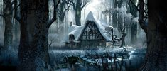 """"""" Visual Development for Maleficent by Adam Brockbank """" Environment Concept Art, Environment Design, Jack The Giant Slayer, Forest Cottage, Snow Forest, Matte Painting, Visual Development, Weird Art, Disney Films"""