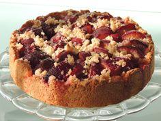 Slivkový koláč s tvarohovým cestom