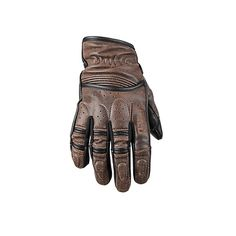 <b>Speed and Strength 'Rust and Redemption' Mens Distressed Dark Brown Leather Gloves</b>