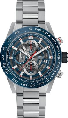 TAG HEUER Carrera stainless steel and ceramic chronograph watch Men's Watches, Casual Watches, Luxury Watches, Cool Watches, Amazing Watches, Elegant Watches, Wrist Watches, Tag Heuer Carrera Calibre, Watch Blog