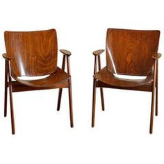 Pair of Antique Punched Wood Arm Chairs | From a unique collection of antique and modern armchairs at https://www.1stdibs.com/furniture/seating/armchairs/