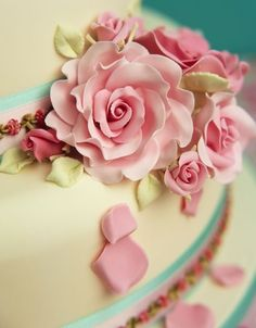 rose wedding cake decorations