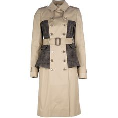 BURBERRY PRORSUM double breasted peplum coat ($2,710) ❤ liked on Polyvore featuring outerwear, coats, jackets, burberry, f-coat, pink double breasted coat, burberry coat, peplum coat, double-breasted coat and pink coat