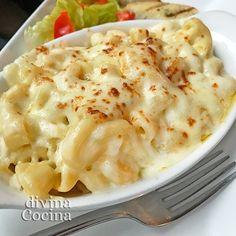 Esta receta de macarrones al queso estilo americano se prepara con una variedad de macarrones rizados y curvos ('elbows') pero usa otra pasta a tu gusto.