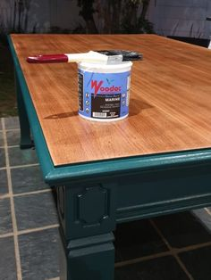 This patio table was sealed with Woodoc Water-Borne MARINE.