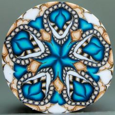 Polymer Clay Circle Kaleidoscope Cane 'Perseverance' by ikandiclay