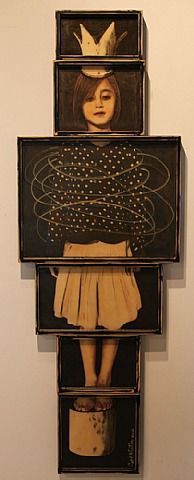Judith Kindler, Crowned Girl. This is lovely, reminds me of Max from Where the Wild Things Are