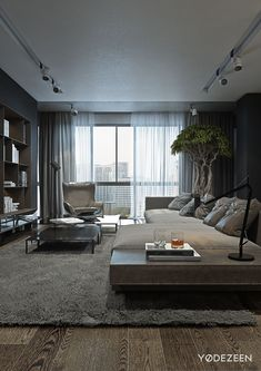 A Dark and Calming Bachelor Bad with Natural Wood and Concrete Home Decor Ideas Bedroom Kids, Home Decoration Diy, Home Decoration Products, Home Decoration Diy Ideas, Home Decoration Design, Home Decoration Cheap, Home Decoration With Wood, Home Decoration Ideas. #decorationideas #decorationdesign #homedecor