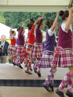 Highland dancing at the Inveraray Highland Games - aren't the girls cute?!