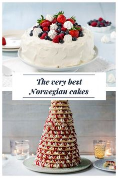 The Best Norwegian Cakes: Traditional cakes and tarts from Scandinavia for birthdays, weddings and other celebrations. Norwegian Cuisine, Norwegian Food, Norwegian Cake Recipe, Nordic Recipe, Christmas Desserts, Christmas Baking, Swedish Recipes, Norwegian Recipes, Norway Food