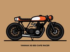 Xs 650 Cafe Racer designed by Nick Slater. Connect with them on Dribbble; the global community for designers and creative professionals. Cafe Bike, Cafe Racer Motorcycle, Motorcycle Style, Estilo Cafe Racer, Kids Cafe, Bike Illustration, Motorcycle Posters, Bike Art, Custom Bikes