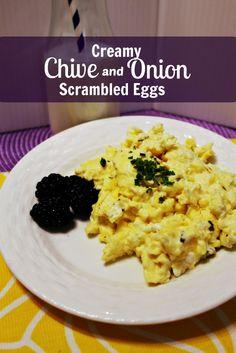 Creamy Chive and Onion Scrambled Eggs