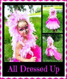 Pink Flamingo Costume Pink Flamingo Tutu Dress and headpiece size 6, 7/8 or 9/10 on Etsy, $75.00