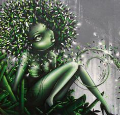 Vinie is a graffiti artist from Paris, France. Her awesome displays feature voluptuous women, women of color with afros, full lips, and wide hips. 3d Street Art, Street Artists, Graffiti Art, Black Women Art, Black Art, Photomontage, Trill Art, Portraits, Hair Art