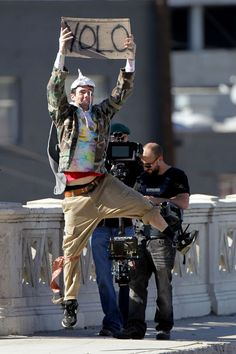 Adam Levine And The Lonely Island Seen Filming A New Music Video