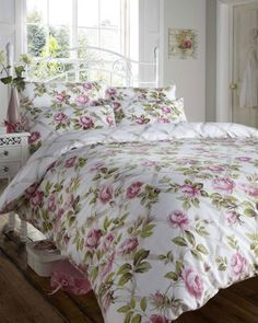 PINK ROSE PRINT - DOUBLE SIZE - COTTAGE STYLE DUVET QUILT COVER BED SET , http://www.amazon.co.uk/dp/B009P79GK4/ref=cm_sw_r_pi_dp_3nZYrb1KHSYCP