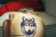 Wolf Tattoo on Back for Women - 55 Wolf Tattoo Designs 27 Tattoo, Tattoo Son, Tatto Ink, Tatoo Art, Samoan Tattoo, Piercing Tattoo, Back Tattoo, Tattoo Thigh, Lion Tattoo