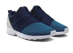 uk availability 7c6a2 bde3c Adidas ZX Flux Slip On Zapatos Trainers hombres azul Armada AF6339 Adidas  Zx Flux,