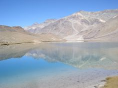 The crystal clear waters of Chandartal Lake, Spiti Valley