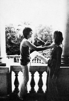 Keith Richards and Anita Pallenberg at Villa Nellcôte, 1971.
