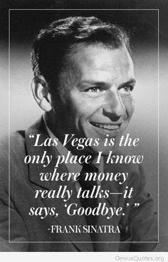 Money talks by Frank Sinatra