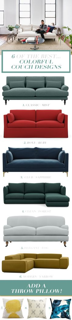 The Best Colorful Couch Designs | Find your perfect colorful sofa with these modern sofas and traditional sofas so that you can find a stylish sofa for any space.