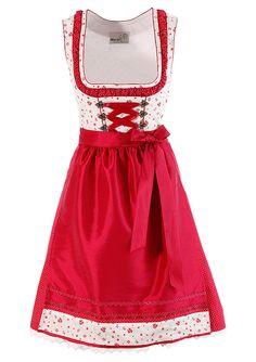 Rotes Drindl von Marjo Dirndl mit Drindlschnürung | [S♥]