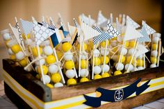 Nautical Baby Shower PRINTABLE Party Flags (INSTANT DOWNLOAD) by Love Thy Day sur Etsy, $3.37 CAD