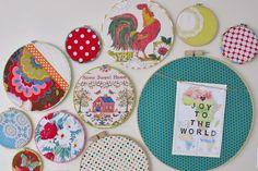 Meg Duerksen's Craft Weekend - Loving the hoop action!