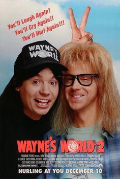 "Wayne's World 2 (1993) Vintage Advance Movie Poster - 27"" x 40"""