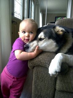 """Me and My Best Friend""  [Tanya R. from Millgrove, Ontario sent in this adorable photo of her daughter and her dog. These two seem as close as close can be. And if they aren't, her daughter will probably pull them closer.]  'h4d'120829"