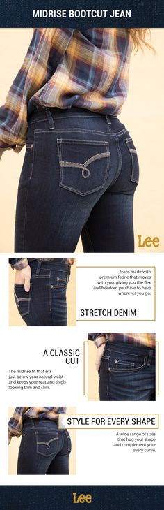 52672b6f Feel the freedom of the perfect-fitting Midrise Bootcut Jean by Lee Riders  French Girl