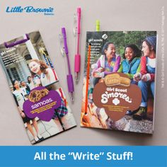 Now that cookie season is over, girls will be looking forward to all the adventures they're going to have this summer. To jot down all the fun, they can make this simple recyclable notebook out of empty cookie boxes.