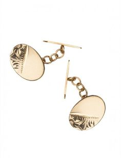 9ct Oval Cufflinks - Available at Onyx Goldsmiths