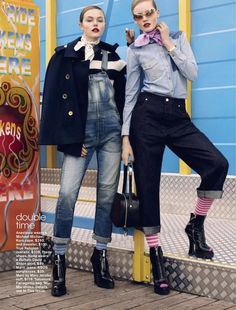 arcade fire: anastasia milli and nana strand by scott trindle for teen vogue august 2013